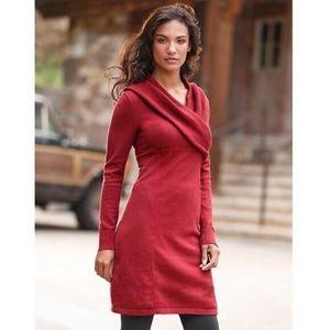 Athleta Sochi Red Sweater Dress Organic Cotton